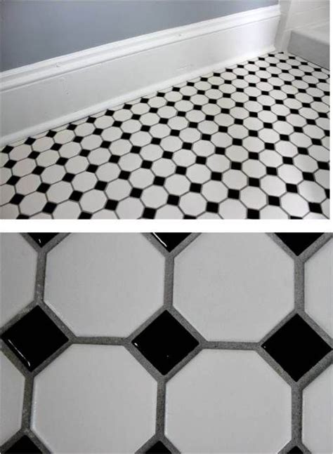 Bathroom Octagon Floor Tiles 23 Black And White Octagon Bathroom Floor Tile Ideas And