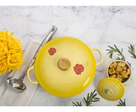 be our guest le creuset be our guest the beauty and the beast le creuset dishes