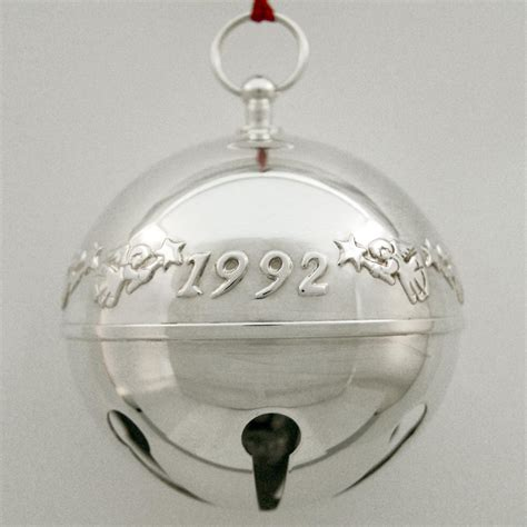 wallace silver bell 2018 1992 wallace sleigh bell silverplate ornament sterling collectables