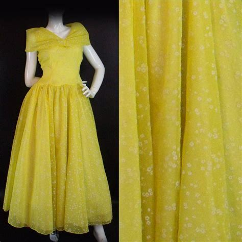8 Stunning Vintage Dresses by Stunning Original Vintage 1950s Yellow Summer Dres Retruly