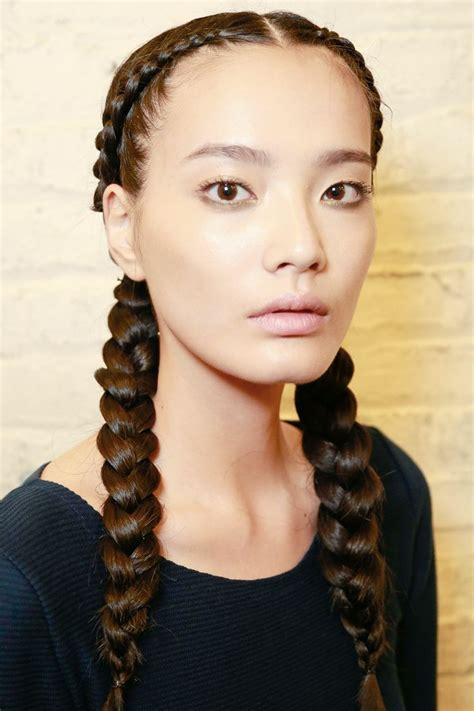 parting hair for micro braids most appealing center parted braids for 2016 hairstyle