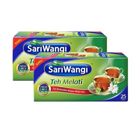 Teh Sariwangi Box jual groceries sariwangi melati tb teh celup 25 kantong