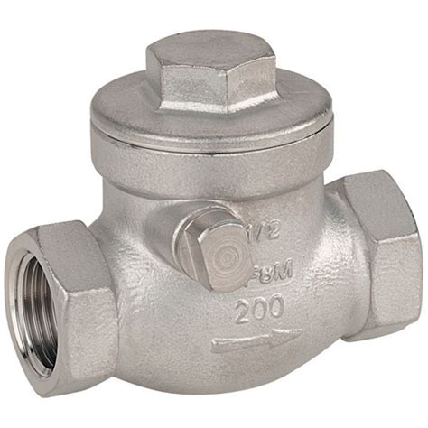 stainless steel swing check valve haitima 3 4 quot bsp 316 stainless steel swing check valve