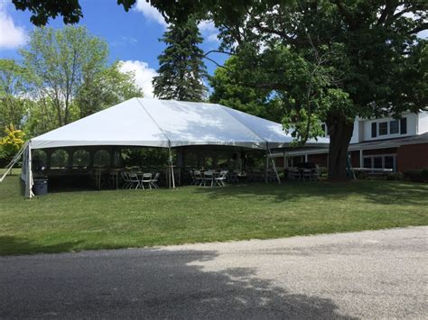 Backyard Wedding Tent Rentals by Outdoor Wedding Reception Set Up With 40 X 60 Hybrid Tent In Iowa