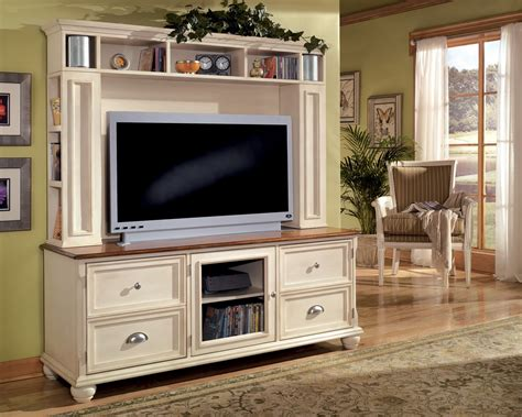 White Living Room Hutch Vintage White And Brown Wooden Tv Console Ideas With Hutch