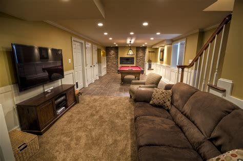basement rooms billiards room traditional basement philadelphia