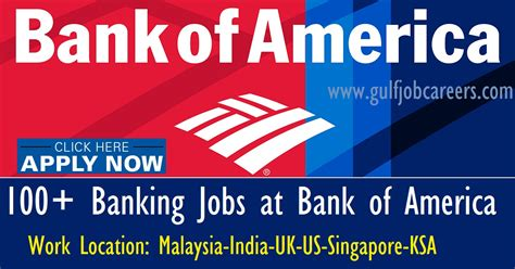 Bank Of America Mba Hr Consultant by Bank At Bank Of America Malaysia India Uk Us