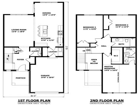 Simple Two Story House Modern Two Story House Plans Houses Floor Plan Mexzhouse Com