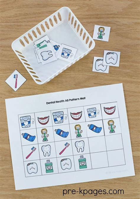 pattern activities at home 53 best dental health theme images on pinterest dental