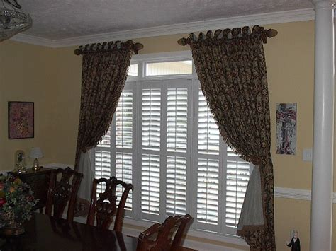 drapes over plantation shutters carolina window fashions fayetteville nc blinds curtains