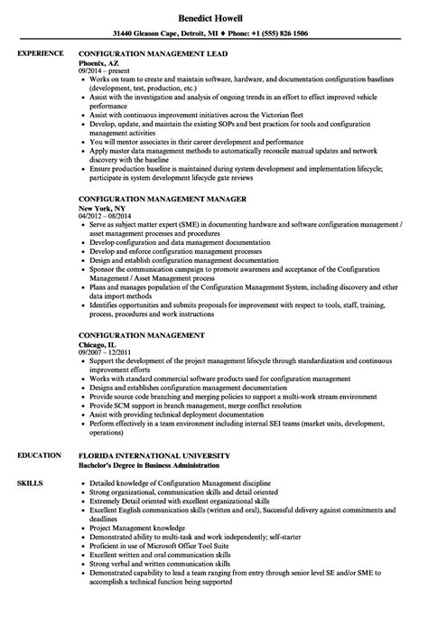 famous software configuration manager resume contemporary