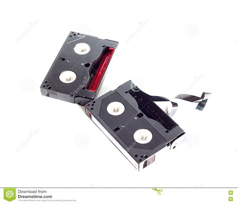 mini cassette mini cassette recorder isolated on white royalty free