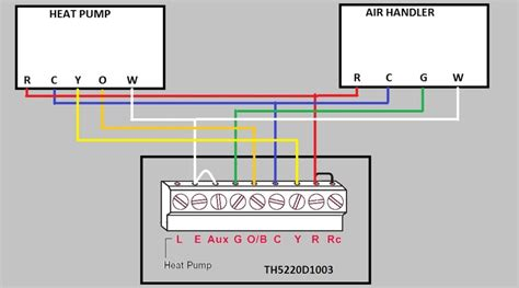 Honeywell Thermostat Th5220d1003 Wiring Diagram honeywell th5220d1003 wiring diagram collection wiring