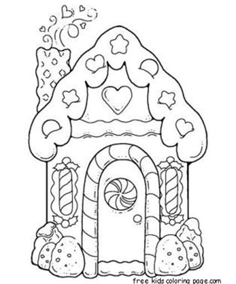 printable gingerbread house patterns to color gingerbread house printable coloring pages for kidsfree
