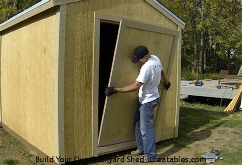 How To Make A Door For A Shed by How To Build A Shed Door Icreatables