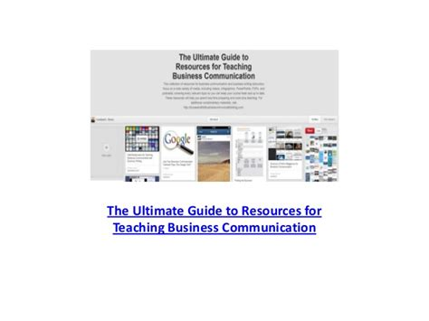 The Ultimate Guide To Resources by Ultimate Guide To Teaching Resources For Business