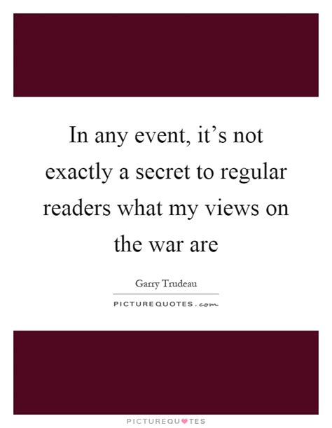 it s our secret event in any event it s not exactly a secret to regular readers
