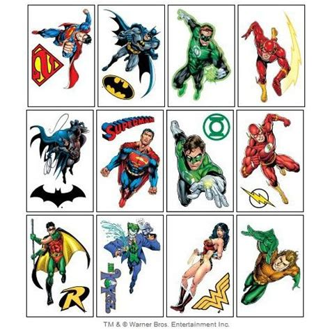 superhero temporary tattoos dc symbols dc comics temporary