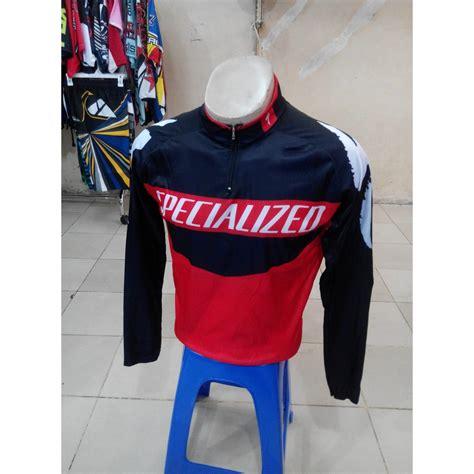 Kaos Sepeda Mountain Bike Raglan baju kaos jersey sepeda specialized hitam elevenia