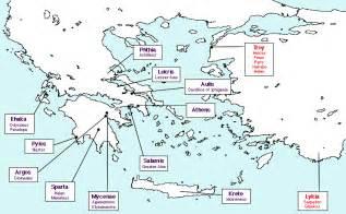 Troy Greece Map by English I 8th Period Odyssey 14