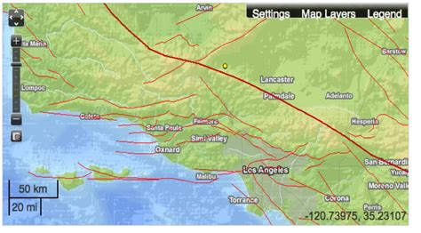 earthquake fault lines map usgs earthquake map california los angeles