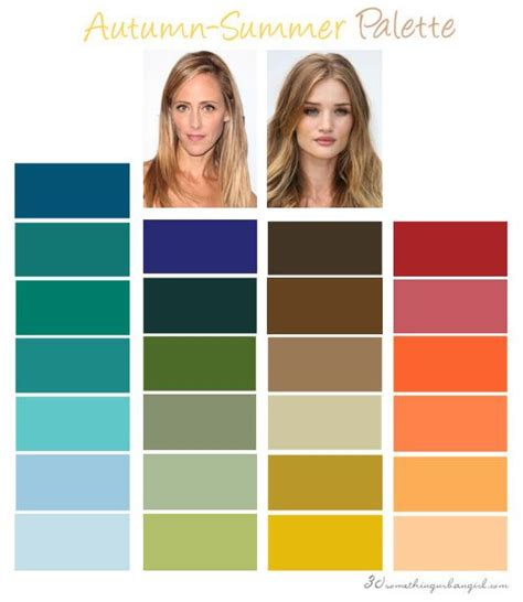 soft summer color palette best 25 autumn color palette ideas on fall
