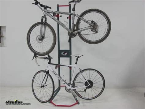 gear up platinum steel bike storage rack free standing