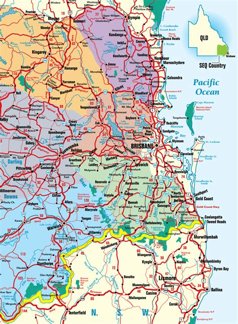 printable maps queensland queensland road maps printable printable maps