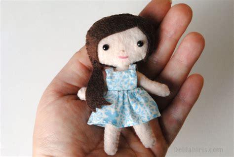 doll felt felt doll pattern mini doll iris