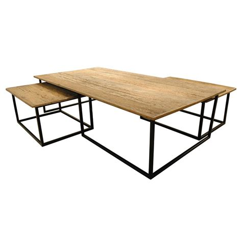 reclaimed wood coffee table set dickens reclaimed wood modern large coffee table set