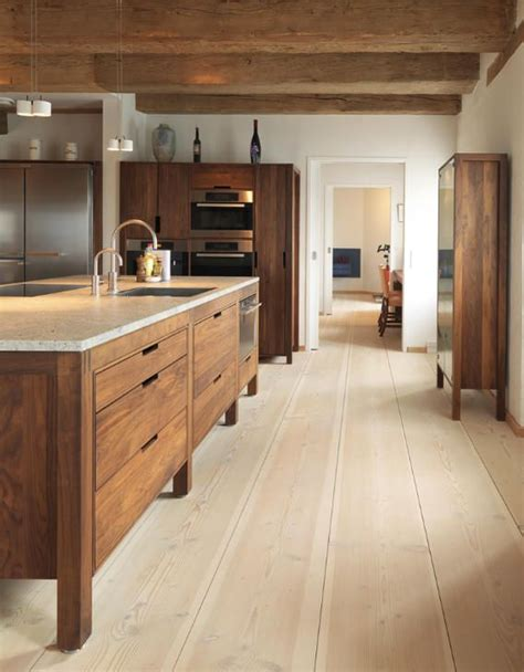 modern rustic kitchen with modern wood cabinets wood