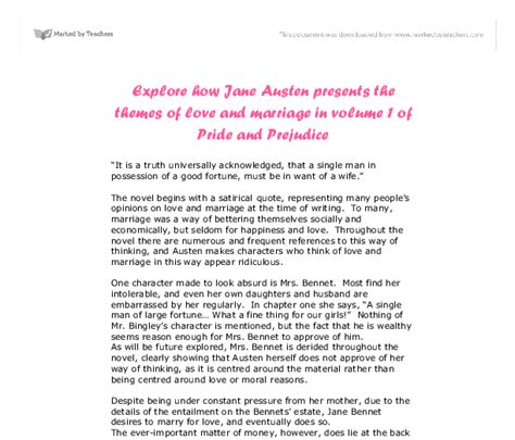 pride and prejudice themes gcse explore how jane austen presents the themes of love and
