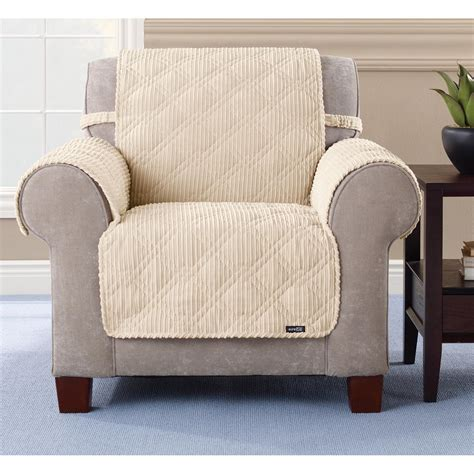 pet covers for recliners sure fit 174 quilted corduroy chair pet cover 292844