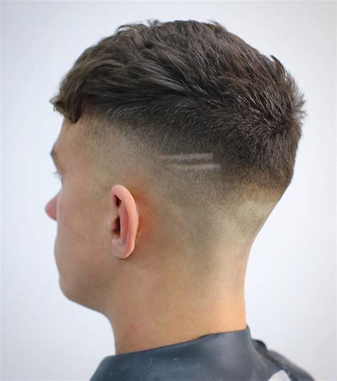 shaved haircut two lines haircut lines on side of head best image hd