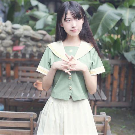 Cotton Japan Garis 2018 new japanese school winter cotton tie embroidered sleeved shirt