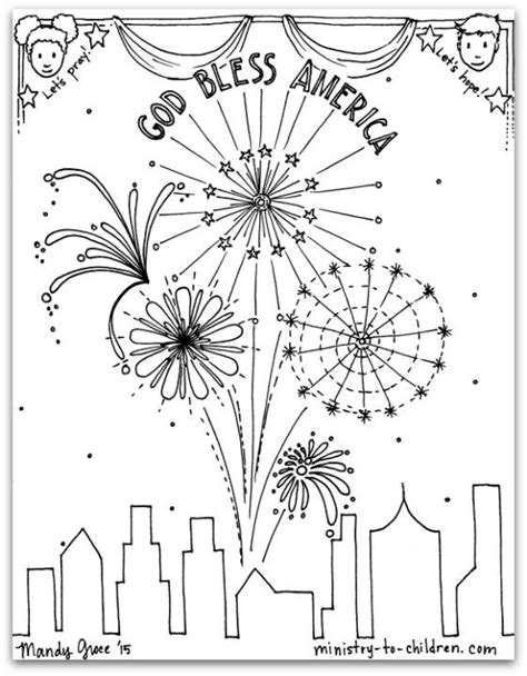 fourth of july coloring pages pdf free pdf july 4th coloring page god bless america
