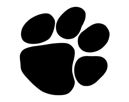 bobcat paw print outline cliparts.co