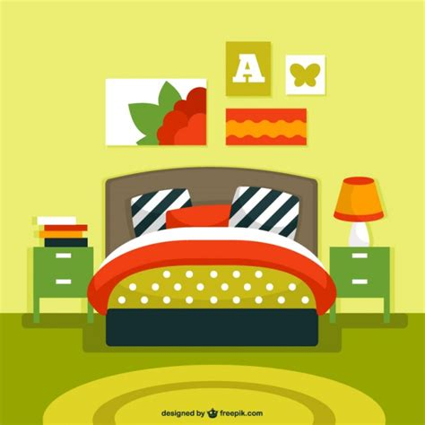 bedroom design vector bedroom interior vector vector free download