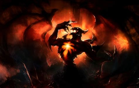 dota 2 big wallpaper wallpaper shadow fiend wings art gemmaqw the demon