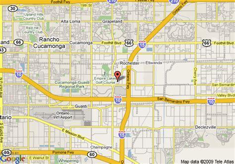 california map rancho cucamonga map of garden inn ontario rancho cucamonga rancho