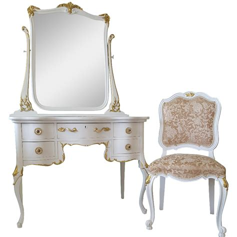 hayworth vanity bench antique white bedroom makeup vanity antique white gold makeup vanity mirror chair chairish