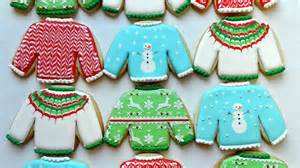 how to decorate ugly christmas sweater cookies youtube