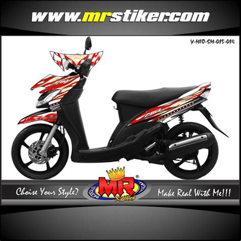 Keranjang Mio mio stiker motor striping motor suka suka