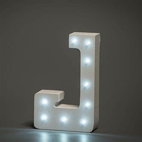 j up letter up in lights decorative led alphabet white wooden letters