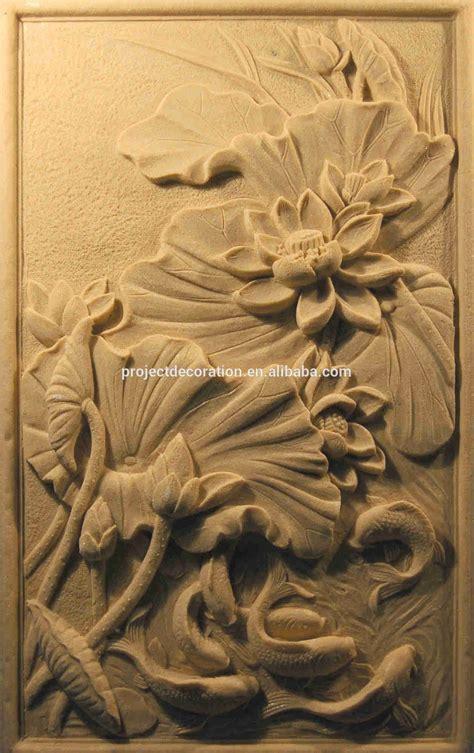 high standard waterproof sandstone wall relief sculpture