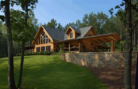 log home plan by appalachian log structures