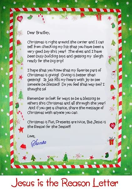 letter from santa claus personalized letter from santa claus