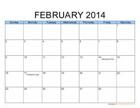 february 2014 calendar template 7 best images of printable monthly calendar february 2014