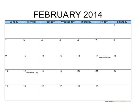 image gallery feb 2014 calendar