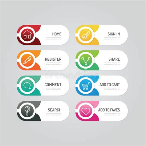 design icon button free modern banner button with social icon design options